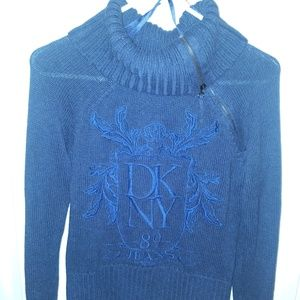 DKNY Jeans Dark Blue Vintage Logo Sweater